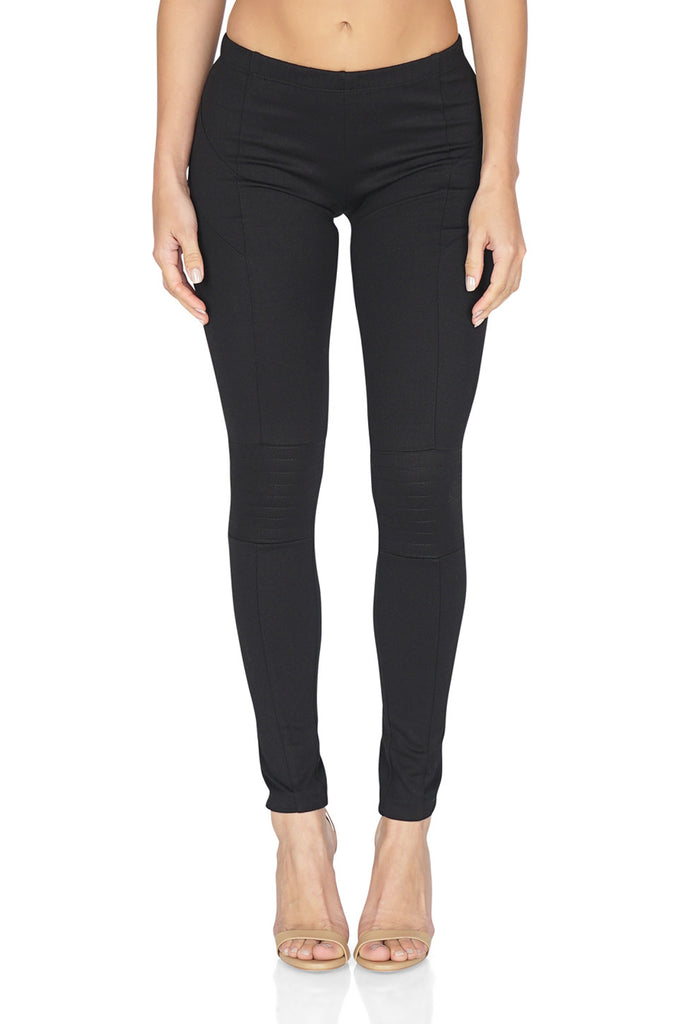 AMANDA UPRICHARD Braxton Moto Leggings in Black front