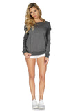 Rory Beca Women's Terri Fringe Sweater in Grey full