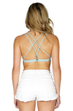 Skivviesby For Love & Lemons Women's Dessert Top Bra White/Sage back
