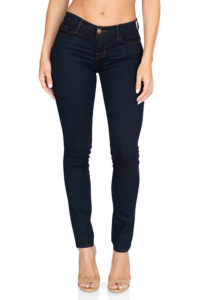 "J Brand Women's Mid Rise 11"" Skinny Legging in Dark Ink - Denim front"