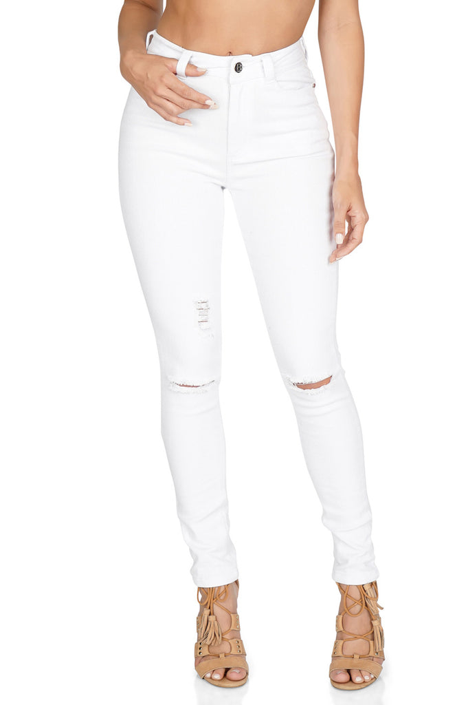 B X Runaway Blizzard High Waisted Jeans front