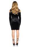 ROG Bianca Cold Shoulder Velvet Dress back