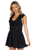 AMANDA UPRICHARD Ruffle halter dress