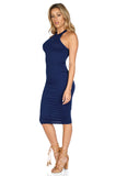 ROG Blair Sleeveless Solid Midi Dress, Navy side
