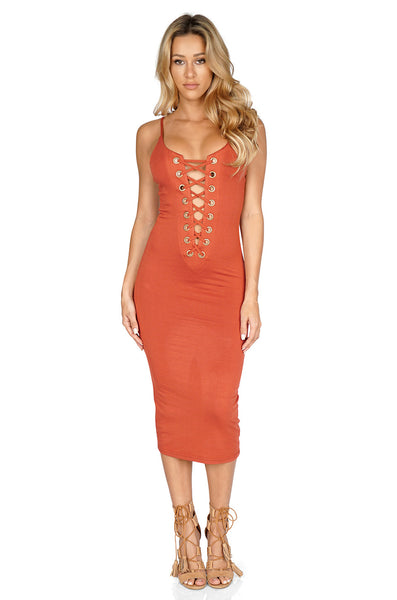 ROG Layla Midi Dress front