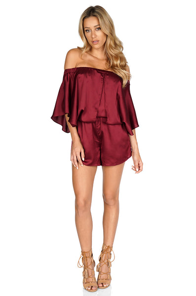 Premonition Splendour Playsuit - Off Shoulder Romper front