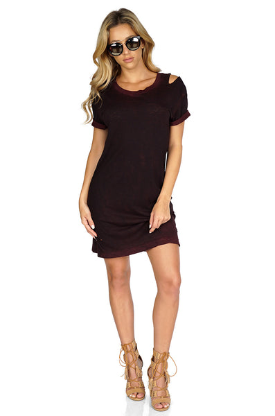 Tyler Jacobs Devie Decon Distressed T Shirt Dress Full