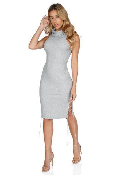 ROG Leyla Sleeveless Turtleneck Dress