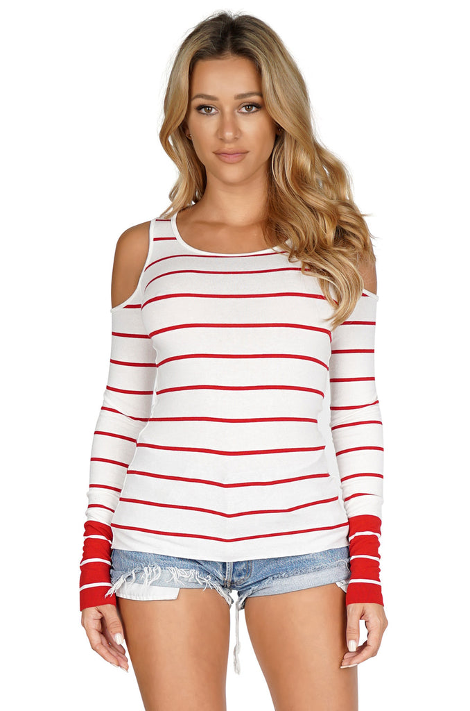 BAILEY 44 Harbor Master Cold Shoulder Top front