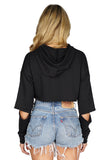 ROG Andre Distressed Hoodie Crop Top back