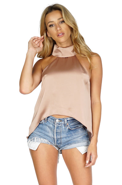 ROG Arizona Sleeveless Blouse High Low Top front
