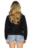 MONROW Douple Zip Raglan Long Sleeve Sweater back