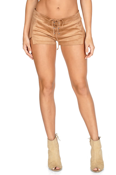 ROG Carisa Hot Suede Shorts front