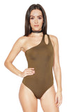 ROG Gisele One Shoulder Bodysuit front