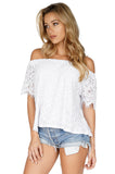 GENERATION LOVE Carly Lace Off Shoulder Top