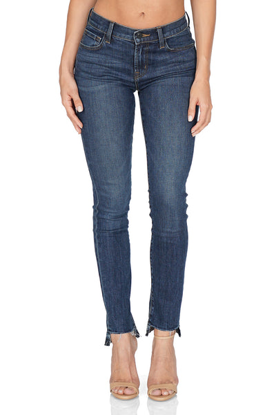 J BRAND 811 Distressed Mid Rise Skinny, Mesmeric