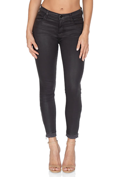 J BRAND Alana High Rise Crop Skinny w/ Zip, Coated Dust front