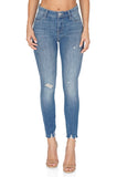 J BRAND Alana High Rise Crop Skinny Distressed Jeans front