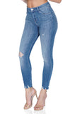 J BRAND Alana High Rise Crop Skinny Distressed Jeans