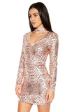 ROG Clarie Sequin Dress side