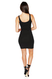 ROG Aubrey Zip Up Tank Dress, Black back
