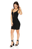 ROG Aubrey Zip Up Tank Dress, Black side