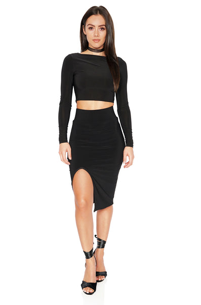 ROG Eva Crop Top & Skirt Set