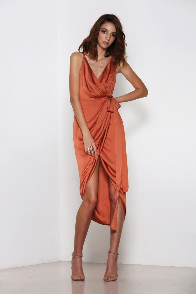 Premonition Wrap Dress - cocktail dresses front
