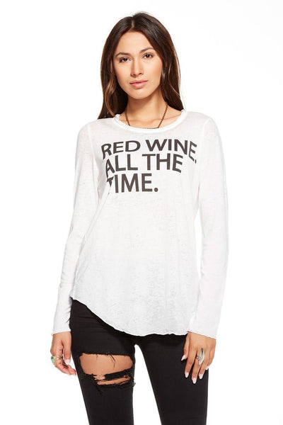 Chaser Red Wine Jersey Longsleeve Tee