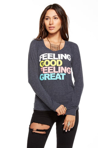 Chaser Feeling Good Raglan Sweater