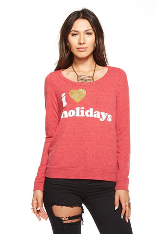 Chaser I Love Holidays open back Longsleeve Tee