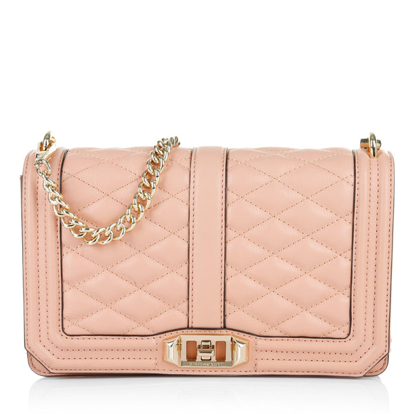 Rebecca Minkoff Women's Love Crossbody Clutch in Pink - Handbags