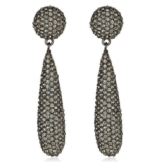 KENNETH JAY LANE gunmetal bat drop earring