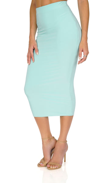 ROG HighWaist Bodycon Skirt, Mint