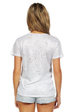 GENERATION LOVE Brandy Metallic Distressed T Shirt in Silver back