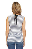 Generation Love Lucy Sleeveless Crystal Embellished Top In Stripe back
