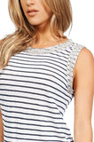 Generation Love Lucy Sleeveless Crystal Embellished Top In Stripe detail