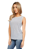 Generation Love Lucy Sleeveless Crystal Embellished Top In Stripe side