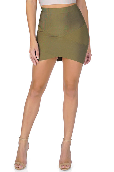 ROG Thema Mini Bandage skirt, Olive