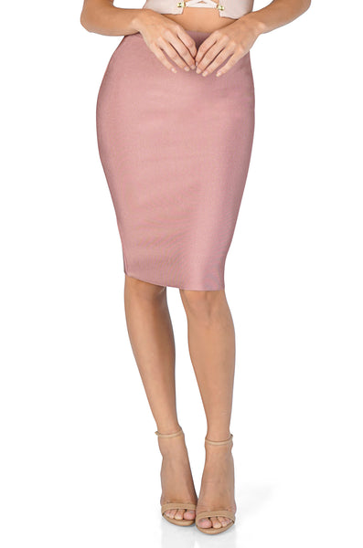 ROG Signature Bandage Pencil Skirt, Mauve