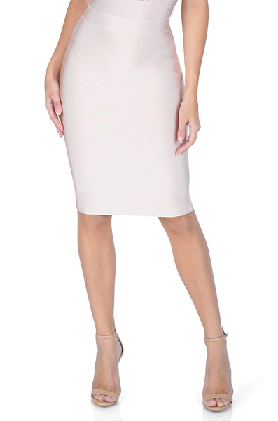 ROG Signature Bandage Pencil Skirt, Pink