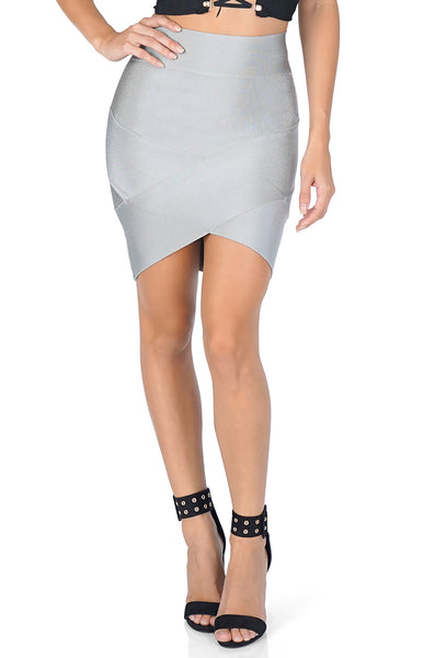 ROG Thema Mini Bandage skirt, Silver
