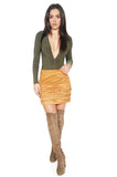 ROG Suede Fringe Mini Skirt full