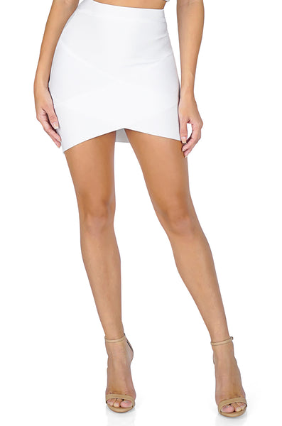 ROG Thema Mini Bandage skirt, White
