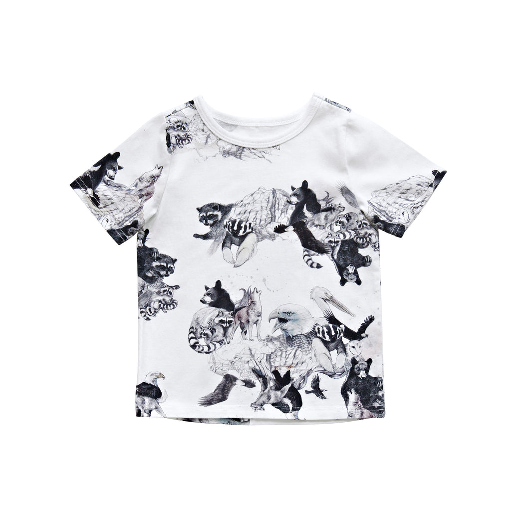 White animal print t-shirt