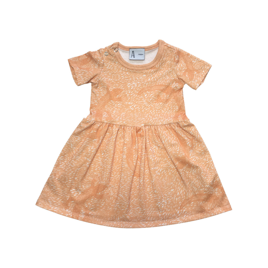 Orange lizard baby dress