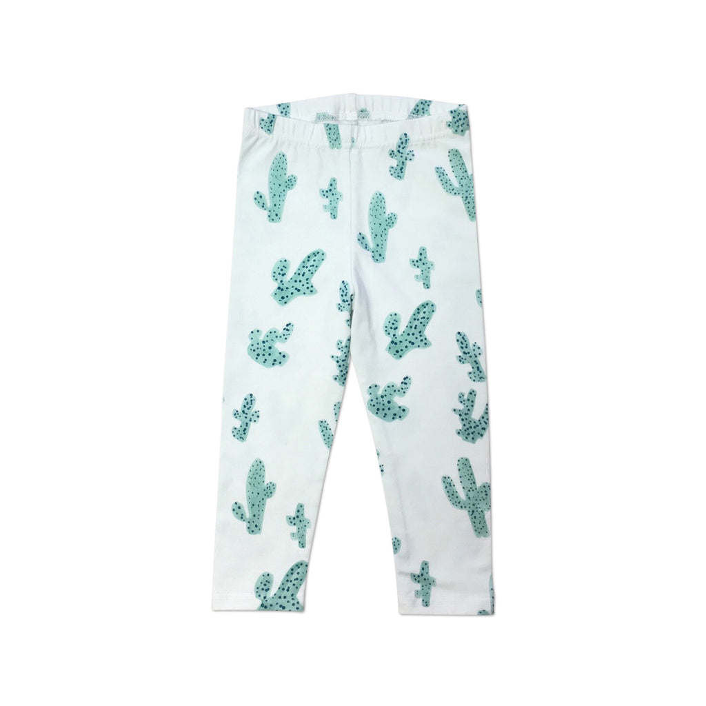 White cactus baby leggings