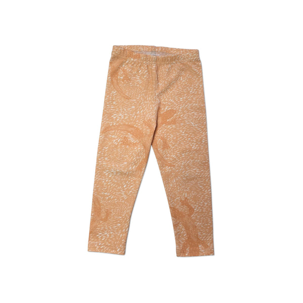 Orange lizard leggings