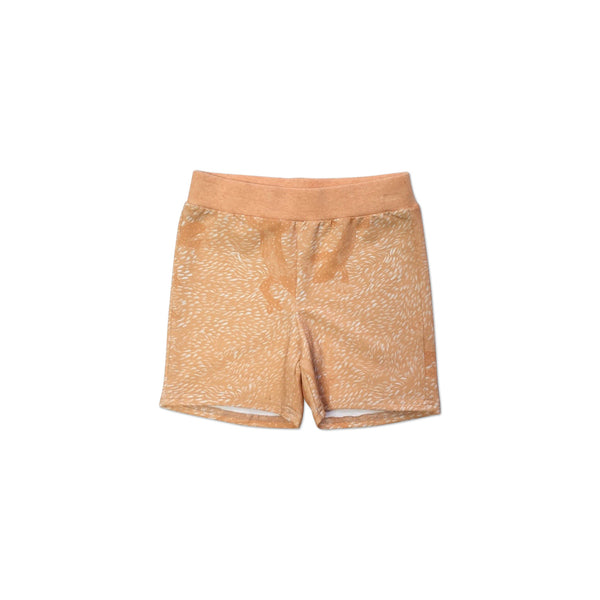 Orange lizard shorts
