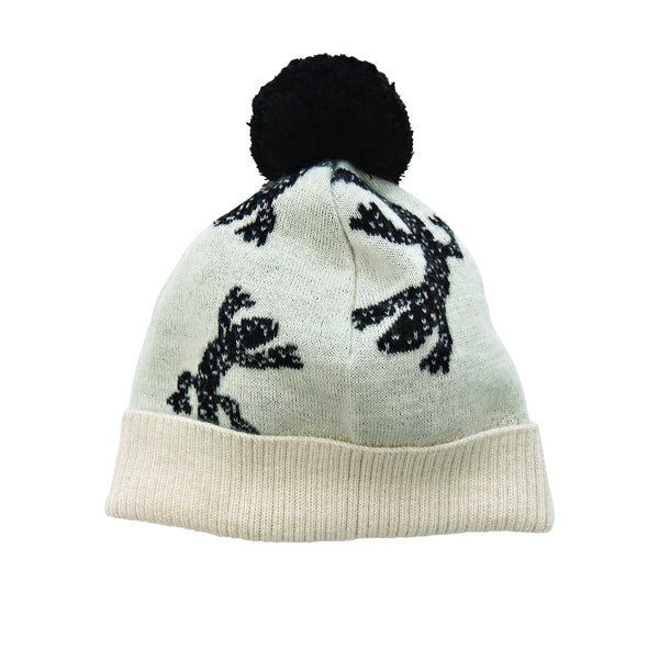 Knitted white lizard hat